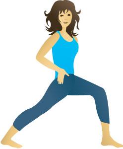 Hip Flex stretch for health at home